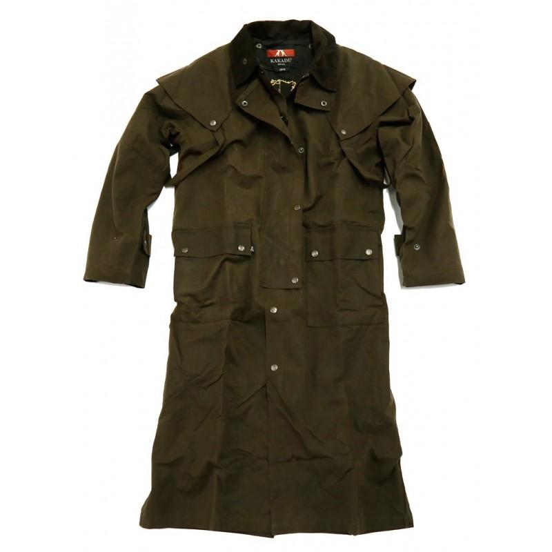 12f1e5de07f WORKHORSE DROVERS Brown australský dlouhý kabát - australské ...
