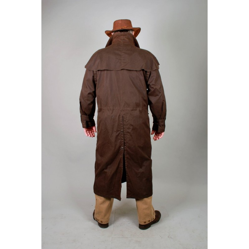c6fb6fb6fcd WORKHORSE DROVERS Black australský dlouhý kabát - australské ...