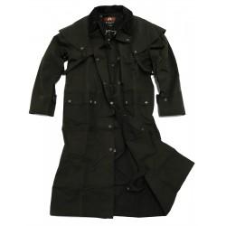 WORKHORSE DROVERS Black australský dlouhý kabát