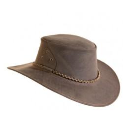 THE ROO Brown australský kožený klobouk