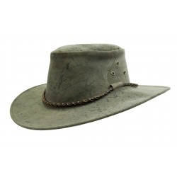 THE ROO Mottle australský kožený klobouk