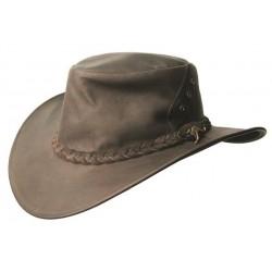 DARWIN Brown australský kožený klobouk