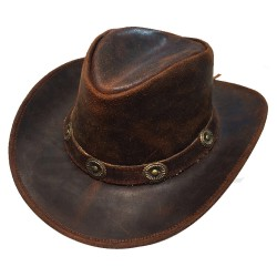 CONCHOS australský kožený klobouk