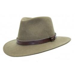 OUTDOOR Taupe australský vlněný klobouk