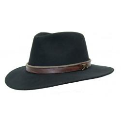 OUTDOOR Black australský vlněný klobouk