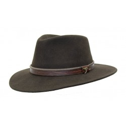 OUTDOOR Brown australský vlněný klobouk