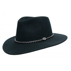 JACOB Black australský vlněný klobouk